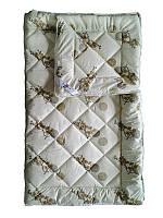 Шерстяное одеяло евро облегченное, Орнамент3 бязь (195х215 см.)