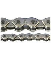 Цепь инд. 100 зв. 1/2x1/8 KMC K710 silver/silver