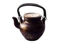Чайник глиняный Классический с ситом Сакура 450 мл (исинская глина)