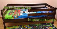 Кровать из бука в тоне Венге с бортиком