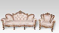 """Диван и кресло в стиле барокко """"Изабелла"""""""