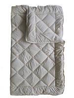 Шерстяное одеяло евро, Беж бязь (195х215 см.)