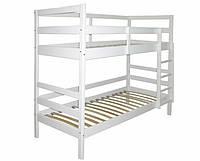 """Детская двухъярусная кровать белая """"Снежка"""" 190*80 см"""
