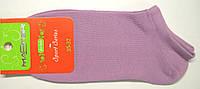 Очень короткие женские светло-фиолетового цвета носки