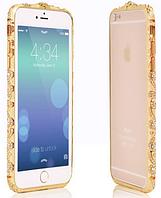 Золотой бампер с камнями Сваровски для Iphone 6/6S, фото 1