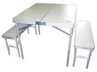 Раскладной стол для пикника + 2 скамейки