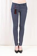 Красивые качественные молодежные брюки средней посадки с принтом, коттон.