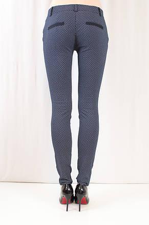 Красивые качественные молодежные брюки средней посадки с принтом, коттон. , фото 3