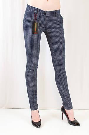 Красивые качественные молодежные брюки средней посадки с принтом, коттон. , фото 2