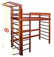 Спортивная кровать чердак Орех/Венге 190*80 см