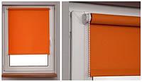 Рулонные шторы балконные 69*230см Оранжевый Vidella Blackout