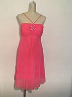 Платье сарафан розовое шифоновое