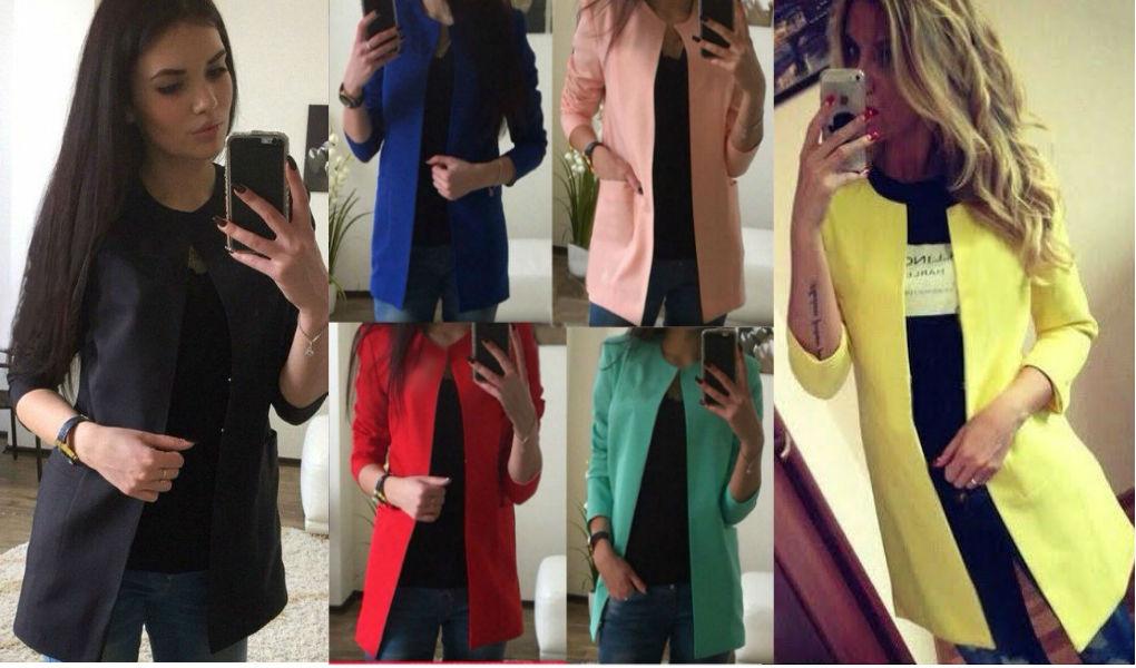 Модный пиджак женский - 15 цветов