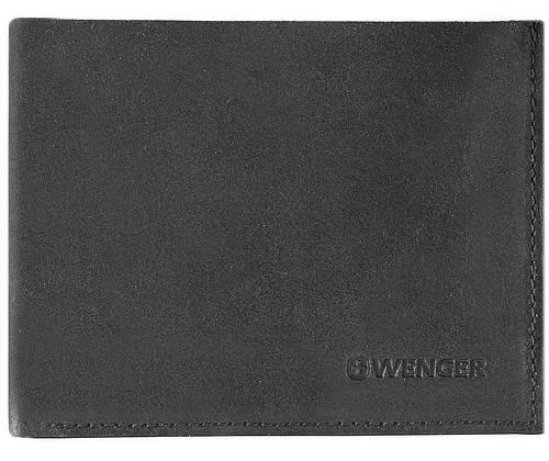 Элегантное кожаное мужское портмоне WENGER W31-11BK