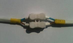 Соединительная клемма с самозажимными контактами двойная 10А 250V  Код.57631, фото 2