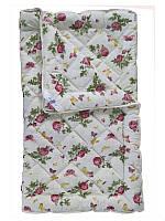 Шерстяное одеяло полуторное облегченное, Роза (155х215 см.)