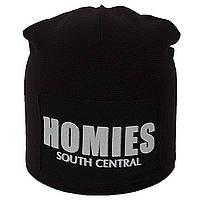 Зимняя шапка-чулок на заклепке Homies (черная)