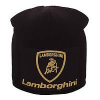 Зимняя шапка-чулок на заклепке Lamborghini (черная)