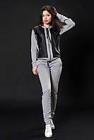 Женский трикотажный костюм. Код модели КТ-02-07-16. Цвет серый меланж.