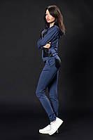 Женский трикотажный костюм. Код модели КТ-02-07-16. Цвет джинс меланж.