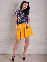 Яркая летняя юбка в модном цвете Ладочка