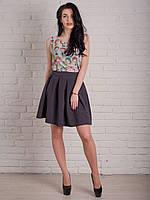 Удобная молодежная юбка модного кроя на лето