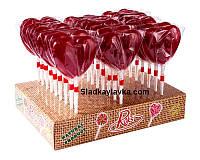 Леденцы на палочке Сердце 27 шт, 50 гр