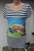Женская туника с карманами оптом