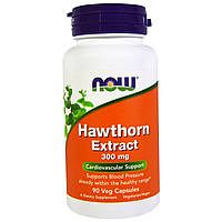 Экстракт боярышника, Now Foods, 300 мг, 90 капсул