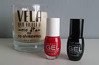 Лак гель для ногтей Deliplus Efecto Gel Nº 661 Rojo + Топовое покрытие Deliplus Efecto Gel + Свеча в подарок