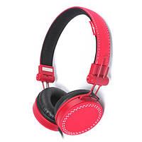 Стерео наушники maxxter cdm-102r-mv red с микрофоном