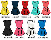 Женская нарядная шифоновая блузка - 9 цветов