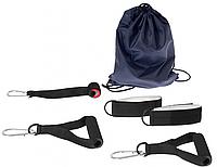 Набор ручек и креплений для тренировки с резиновыми петлями.