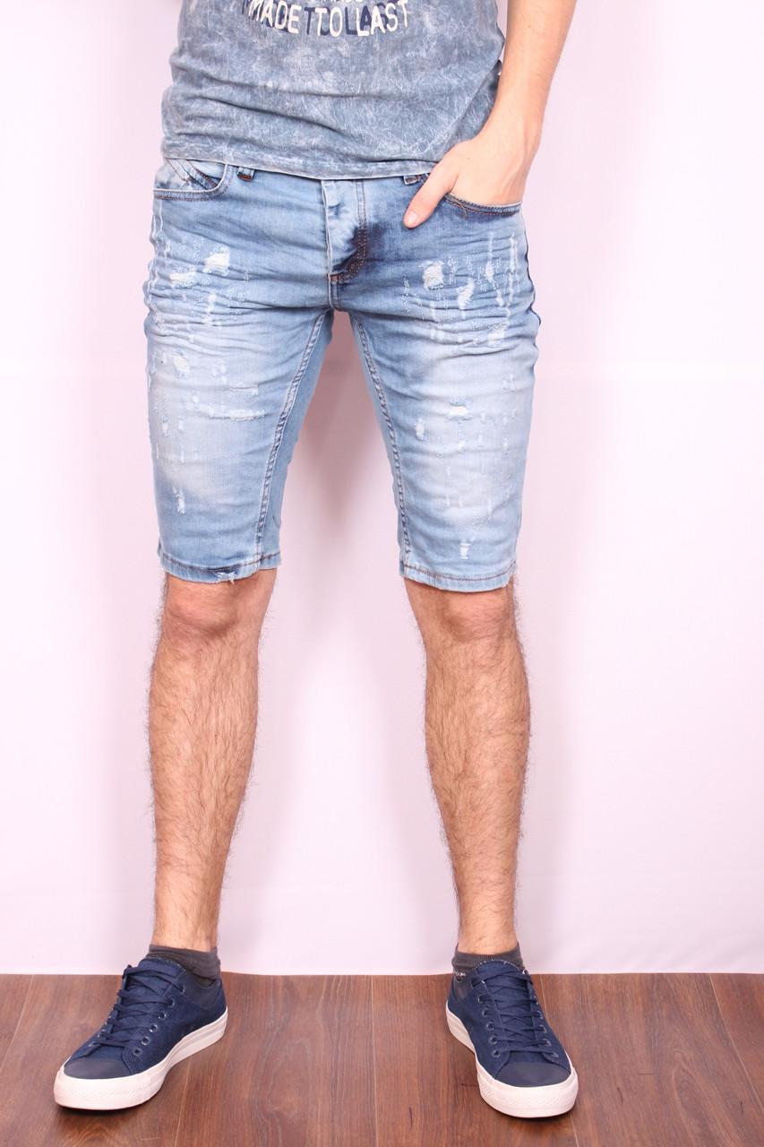 Мужские джинсовые шорты Denim Republic (код 1184) - Интернет-магазин