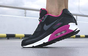 Женские кроссовки Nike Air Max 90 GS Woven White Black Grey