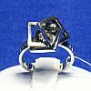Необычное кольцо из серебра Три Квадрата 1075