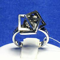 Необычное серебряное кольцо Квадрат 1075