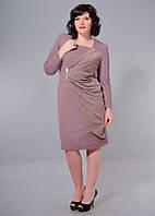 Платье БАТАЛ + отделка атлас 12/134