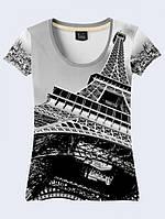 Футболка Черно-Белый Париж