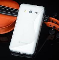 """Силиконовый прозрачный чехол """"S-линия"""" для Samsung Galaxy J5"""