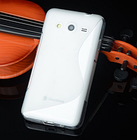 """Силиконовый прозрачный чехол """"S-линия"""" для Samsung Galaxy J5, фото 1"""