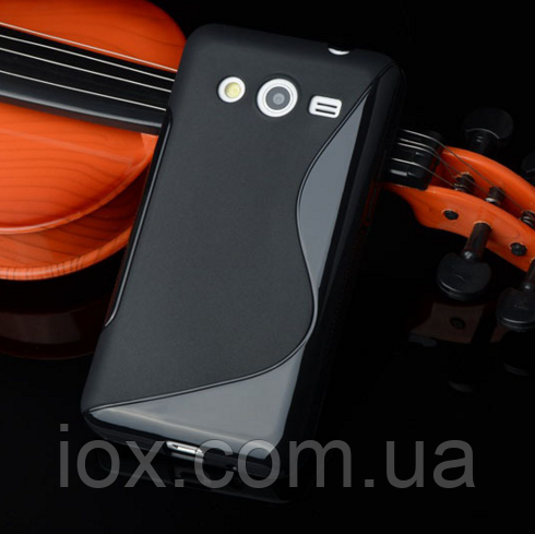 """Силиконовый черный чехол """"S-линия"""" для Samsung Galaxy J5"""