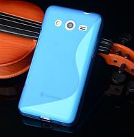 """Силиконовый голубой чехол """"S-линия"""" для Samsung Galaxy J5, фото 1"""