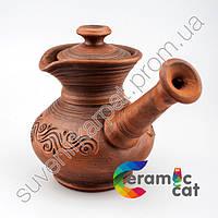 Древняя глиненая кофеварка ручной работы, фото 1