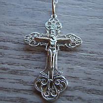 Серебряный крестик с распятием, 2,4 грамма, фото 2