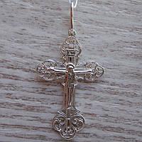 Серебряный крестик с распятием, 2,4 грамма