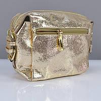 Золотистая маленькая сумочка Valenciy женская