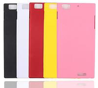 Розовый пластиковый с антискользящим покрытием чехол для Lenovo K900