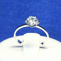 Серебряное кольцо для помолвки 1065, фото 1