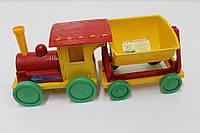 Игрушка Поезд-конструктор с 1 прицепом 013117 Фламинго-Тойс, красный